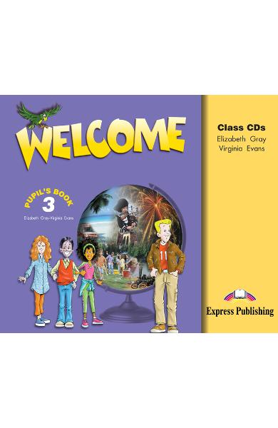 Curs limba engleză Welcome 3 Audio CD (set 3 CD) 978-1-84325-312-9