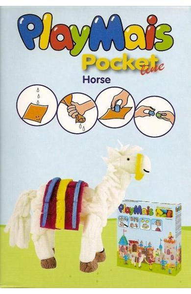 Material de construit şi modelat playmais pochet line horse