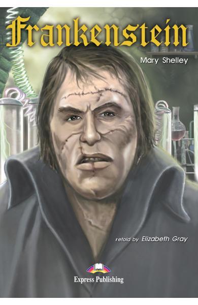 Literatură adaptată pentru copii Frankenstein Pachetul elevului (carte cu audio CD si caiet de activități) 978-1-84216-188-3