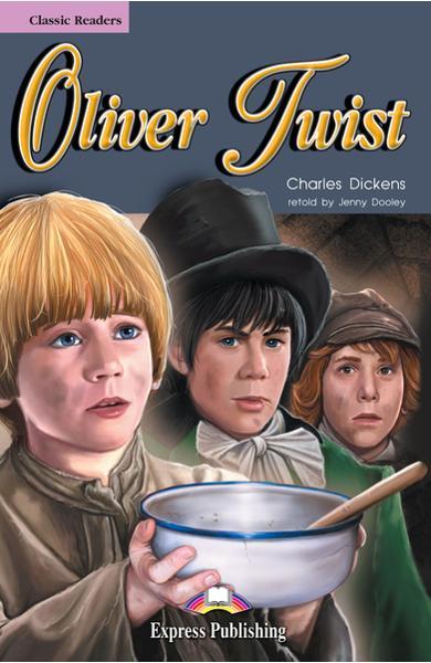 Literatură adaptată pentru copii - Oliver Twist (set cu cd)