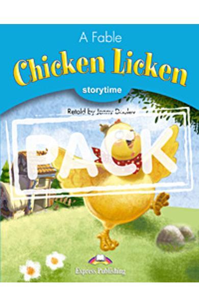 Literatura adaptata pt. copii Chicken Licken - pachetul elevului (carte + multi-rom)