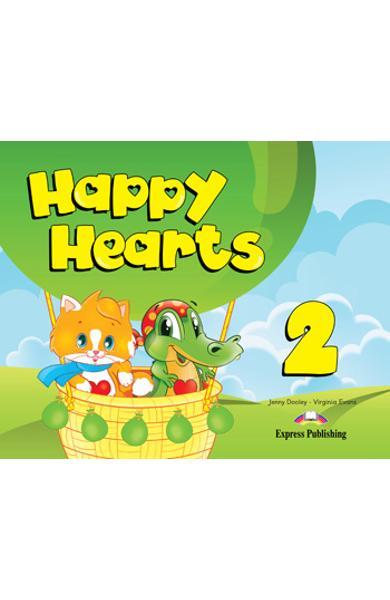 Curs limba engleză Happy Hearts 2 Pachetul elevului (manual elev, abtibilduri, figurine din carton si fise de lucru)