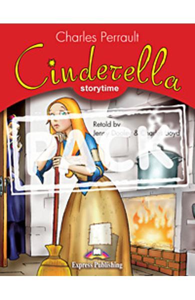 Literatura adaptata pt. copii Cinderella - set cu multi-rom