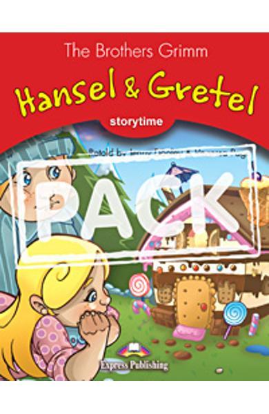 Literatura adaptata pt. copii Hansel and Gretel cu multi-rom