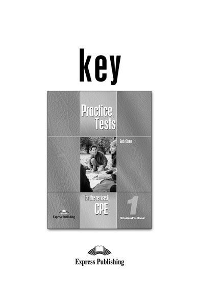 Teste lb. engleză - CPE Practice Tests 1 Key