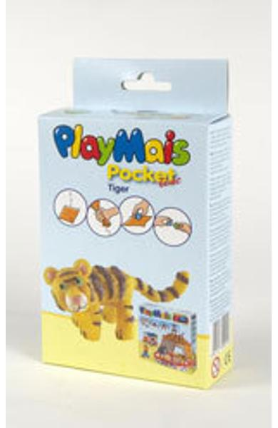 Material de construit şi modelat playmais pochet line tiger