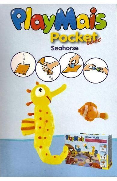 Material de construit şi modelat playmais pochet line seahorse