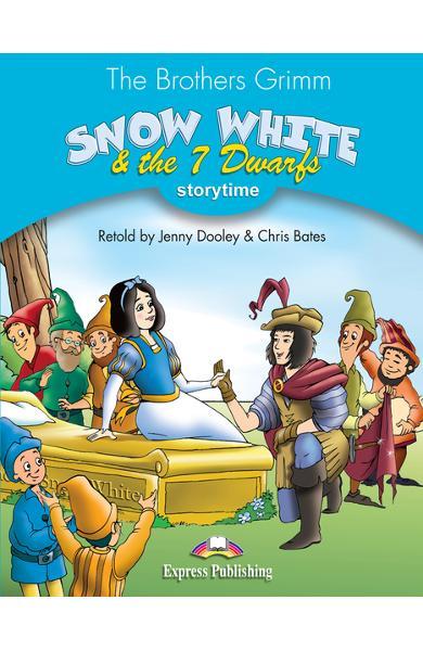 Literatură adaptată Snow White and the 7 Dwarfs Cartea profesorului cu CD