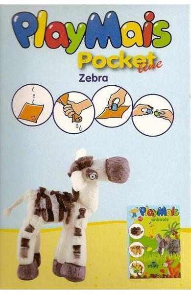 Material de construit şi modelat playmais pochet line zebra