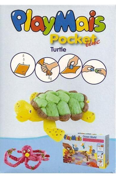 Material de construit şi modelat playmais pochet line turtle