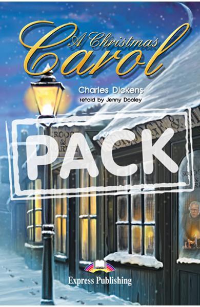 Literatura adaptata pentru copii A Christmas Carol Pachetul elevului (carte + audio CD + caiet de activitati) 978-1-84679-460-5