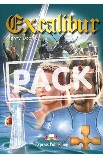 Literatura adaptata pentru copii Excalibur Set cu audio CD 978-1-84466-798-7