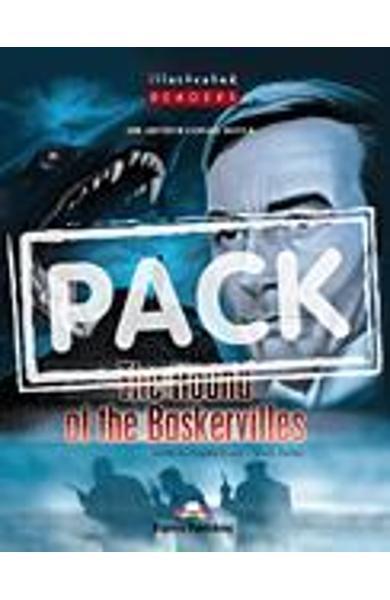 Literatura adaptata pt. copii benzi desenate The Hound of Baskervilles cu multi-rom (audio CD + DVD)