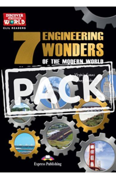 Literatura CLIL pt. copii - The 7 Engineering Wonders of the Modern World - pachetul elevului (reader + multi-rom) 978-1-4715-1244-5