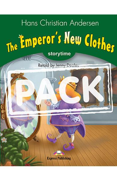 Literatura adaptata pt.copii The Emperor's New Clothes - Set cu AUDIO CD si DVD ( Carte + AUDIO CD + DVD ) 978-1-4715-3323-4