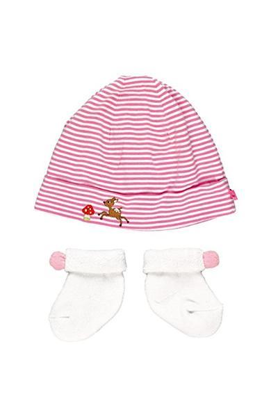 Set caciulita si sosete roz - Baby Charms 11720