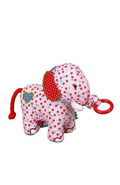 Elefantel de panza roz,tremurator - Baby Charms 11817
