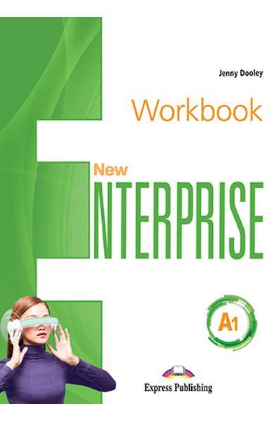 Curs limba Engleza New Enterprise A1 Caietul elevului cu digibook app.