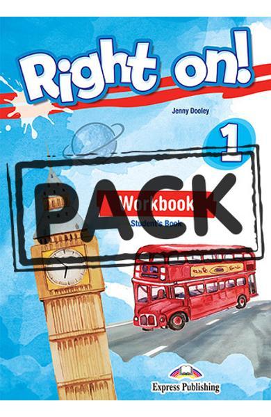 Curs limba engleza Right On 1 - Caietul elevului + Digibooks App
