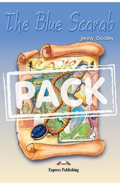 Literatura adaptata pentru copii The Blue Scarab Pachetul elevului (carte + audio CD + caiet de activitati) 978-1-84216-168-5