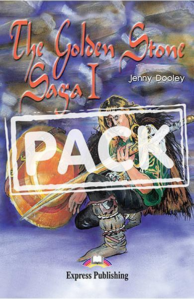 Literatura adaptata pentru copii The Golden Stone Saga I Pachetul elevului (carte + audio CD + caiet de activitati) 978-1-84216-164-7