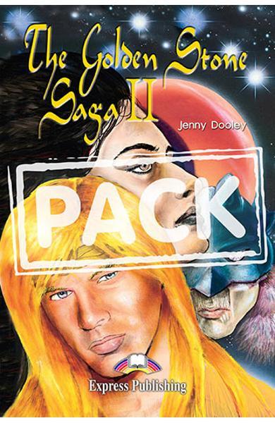 Literatura adaptata pentru copii The Golden Stone Saga II Pachetul elevului (carte + audio CD + caiet de activitati) 978-1-84216-174-6
