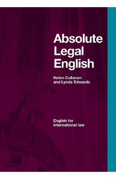 Carte de Metodica Limba Engleza - Absolute Legal English cu CD