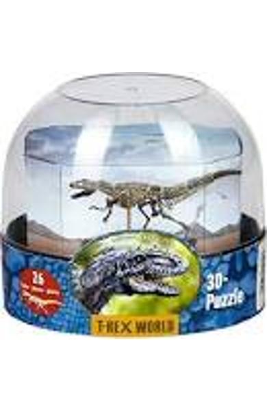 PUZZLE 3D - LUMEA DINOZAURILOR T-REX 15012