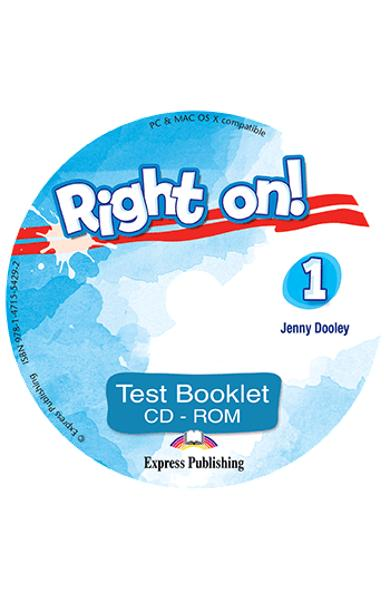 Curs limba engleza Right On 1 Test Booklet CD-ROM 978-1-4715-5429-2