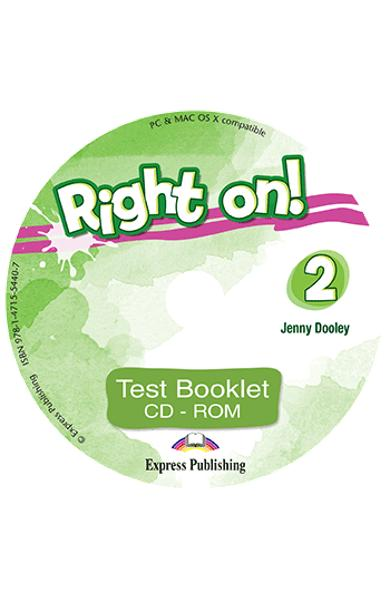 Curs limba engleza Right On 2 Test Booklet CD-ROM 978-1-4715-5440-7