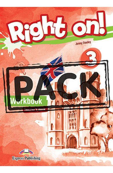 Curs limba engleza Right On 3 Caietul profesorului + Digibook App. 978-1-4715-6925-8