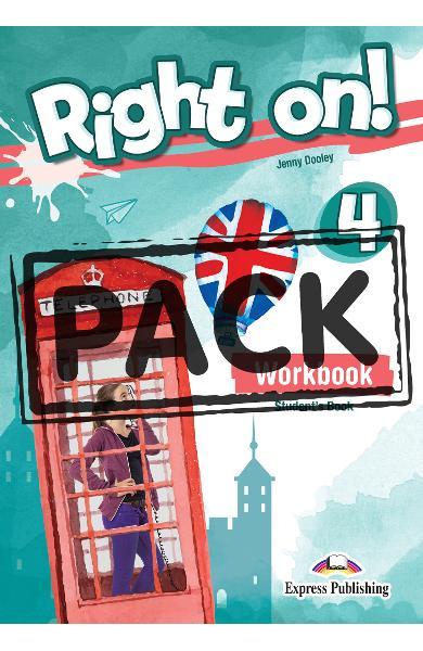 Curs limba engleza Right On 4 Caietul elevului + Digibooks App. 978-1-4715-6934-0