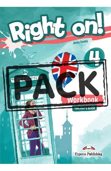 Curs limba engleza Right On 4 Caietul profesorului + Digibook App. 978-1-4715-6935-7