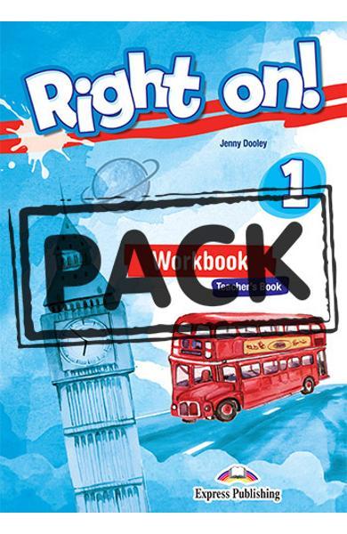 Curs limba engleza Right On 1 Manualul profesorului la gramatica + Digibooks App 978-1-4715-6746-9