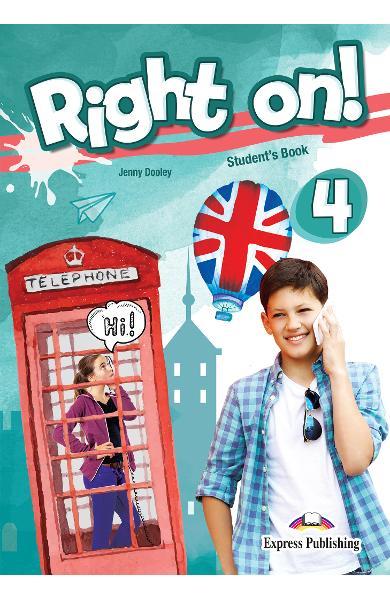 Curs limba engleza Right On 4 Gramatica + Digibooks App. 978-1-4715-6936-4