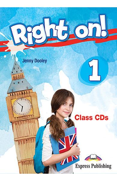Curs limba engleza Right On 1 Audio CD la manual (SET OF 3) 978-1-4715-5436-0