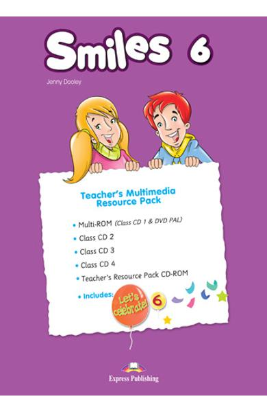 CURS LB. ENGLEZA SMILES 6 MATERIAL ADITIONAL PENTRU PROFESOR ( MANUAL PROFESOR  CD-ROM + MULTI-ROM + CLASS CD + MY ALPHABET BOOK CD) (SET OF 5) 978-1-4715-6784-1