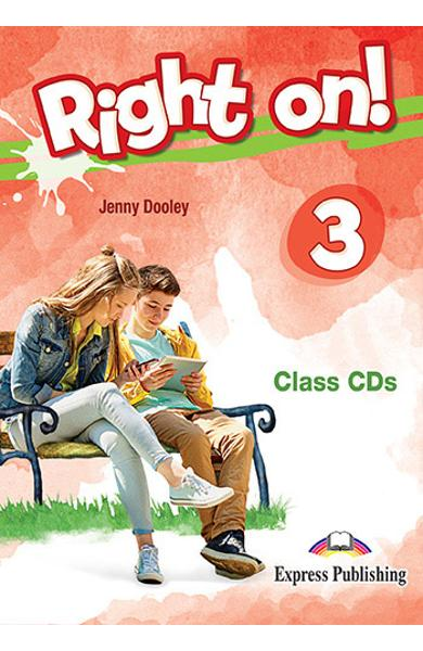 Curs limba engleza Right On 3 Audio CD la manual (set of 3) 978-1-4715-6929-6