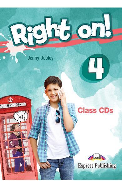 Curs limba engleza Right On 4 Audio CD la manual (set of 3) 978-1-4715-6939-5