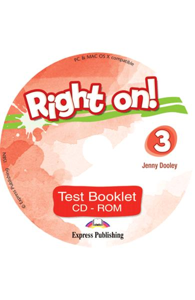 Curs limba engleza Right On 3 Test Booklet CD-ROM 978-1-4715-6928-9