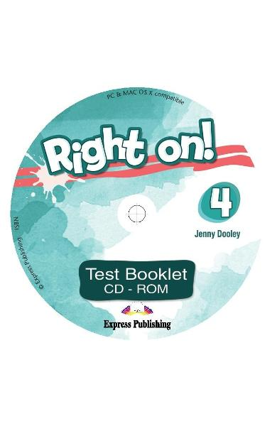 Curs limba engleza Right On 4 Test Booklet CD-ROM 978-1-4715-6938-8