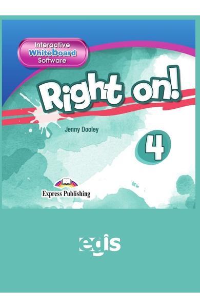 Curs limba engleza Right On 4 Interactive Whiteboard Software 978-1-4715-6940-1