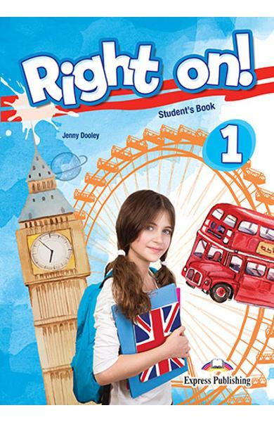 Curs limba engleza Right On 1 Manualul elevului + Digibooks App. 978-1-4715-8011-6