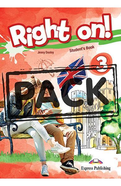 Curs limba engleza Right On 3 Manualul elevului + Digibooks App. 978-1-4715-8013-0